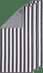 Cawö Frottier ručník z kolekce STRIPES 50x100 cm 3 ks antracitová