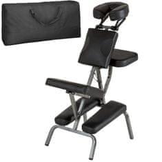 tectake Masážní židle ze syntetické kůže - černá