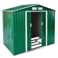 tectake Zahradní domek střecha sedlová - zelená