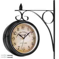 tectake Nástenné hodiny vintage - čierna