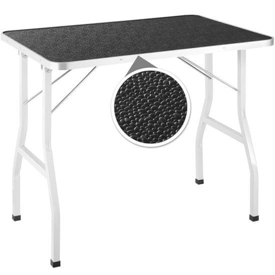 tectake Stůl na stříhání psů se šibenicí - černá/bílá