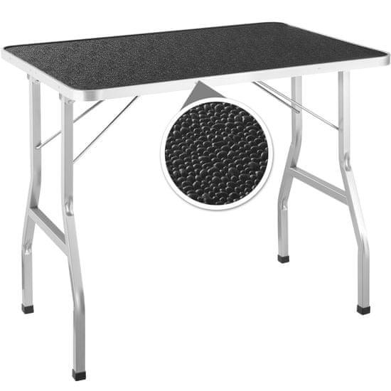 tectake Stůl na stříhání psů se šibenicí - černá/šedá