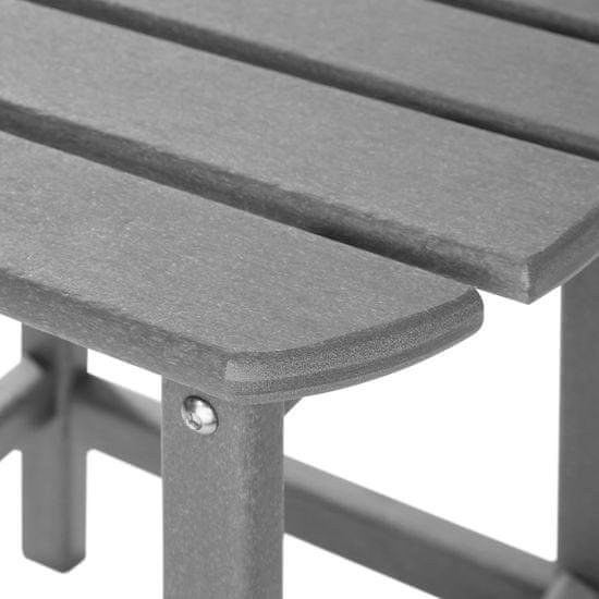 tectake Odkládací stolek Kamala - šedá