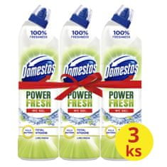 Domestos Total Hygiene Lime Fresh WC gél 3x 700 ml