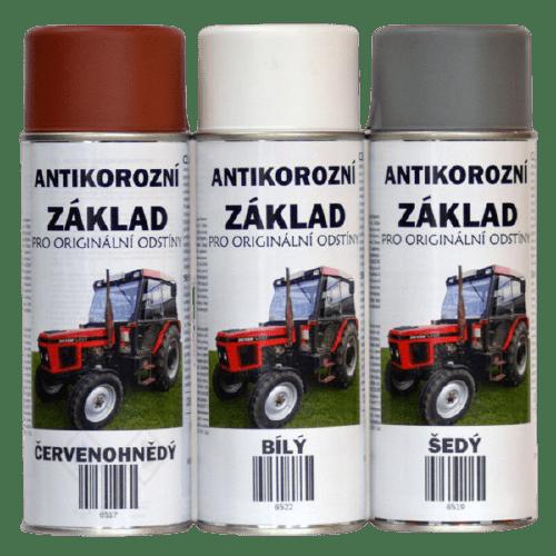 BARVY NA TRAKTORY Antikorozní základ syntetický ve spreji, rychleschnoucí - 400ml