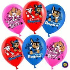 """Kraftika Nafukovací balonky, 12"""", tlapková patrola, sada 50 kusů"""