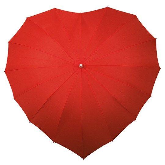 Dežnik odporen na veter Srce - rdeč