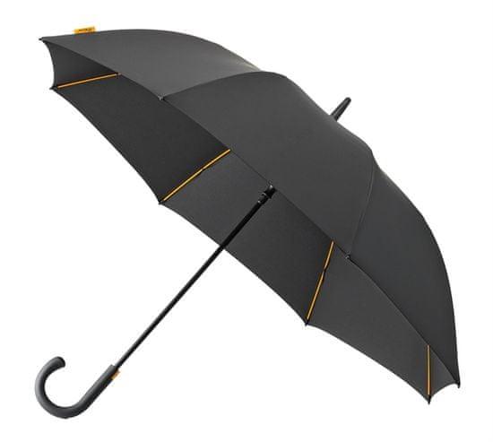 Modni dežnik odporen na veter - črn