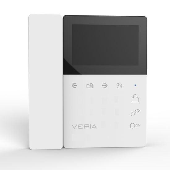 Veria LCD monitor videotelefonu se sluchátkem VERIA 7043B bílý