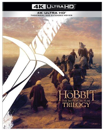 HOBIT - Komplet trilogie - Prodloužená verze + kinoverze (6 UHD) - 4K Ultra HD