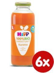 HiPP 100 % BIO JUICE Karotková šťáva, 6 x 330 ml, od uk. 4.měsíce