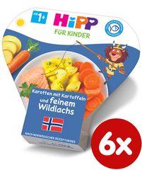 HiPP Zemiaky so zeleninou a jemným lososom - 6 x 250g