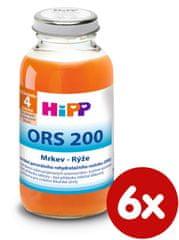 HiPP ORS - mrkvovo ryžový odvar - 6x 200 ml