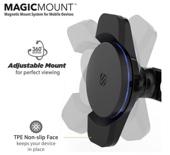 Scosche Magnetický držiak 3. generácie s Qi nabíjaním, Dash MCQD-XTET
