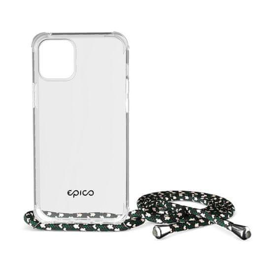 EPICO Nake String Case iPhone 12 Pro Max 50210101000004, biela transparentná / čierno-biela