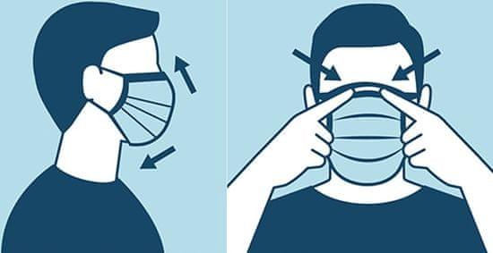 Aga Zaščitne maske za obraz 1000 kos