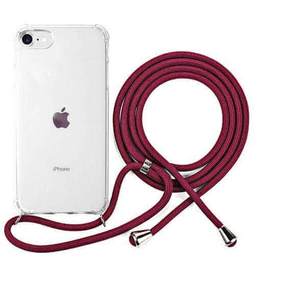EPICO etui ochronne na telefon Nake String Case iPhone 7/8/SE 47510101400001, białe transparentne/czerwone