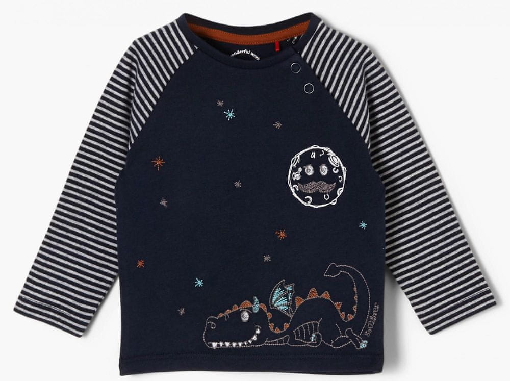 s.Oliver chlapecké tričko 405.10.011.12.130.2053843 62 tmavě modrá