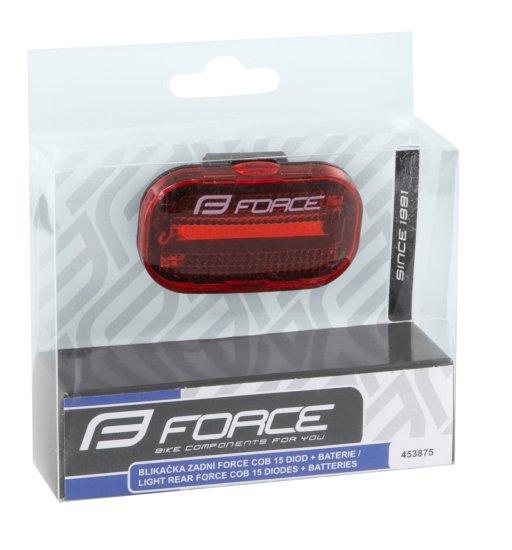 Force Blikačka zadní COB (16 lumen) na baterie