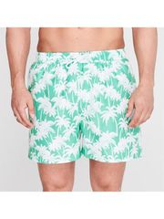 HOT TUNA Pánské Plavky S Potiskem Palmů Barva: Zelená, Velikost: L