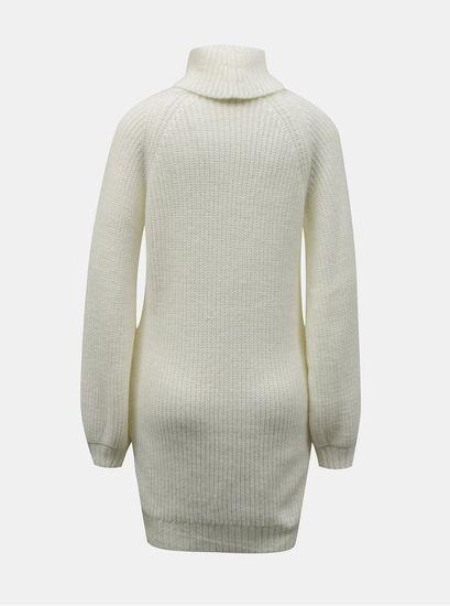 Miss Selfridge Petit krémové svetrové šaty