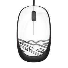 Logitech M105 miška, USB, bela