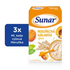 Sunar meruňková kašička mléčná (3x225g)