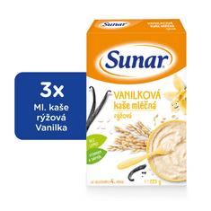 Sunar vanilková kašička mléčná (3x225g)