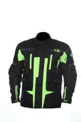 MAXX NF 2201 Textilní bunda dlouhá neon green Velikost: XS