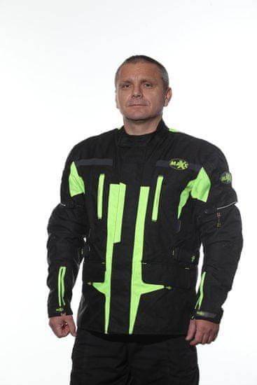 MAXX NF 2201 Textilní bunda dlouhá neon green