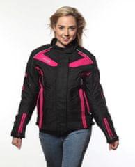 MAXX NF 2400 Dámská textilní bunda černofialová Velikost: XS