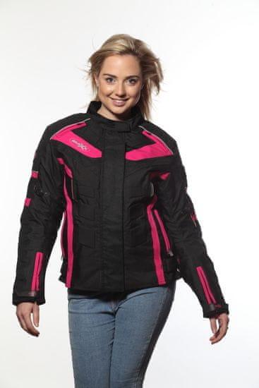 MAXX NF 2400 Dámská textilní bunda černofialová