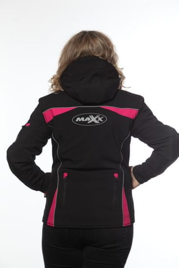 MAXX NF 2776 Dámská soft-shell bunda černofialová