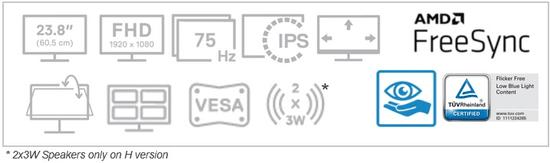 DELL S2421HN monitor (210-AXKS)
