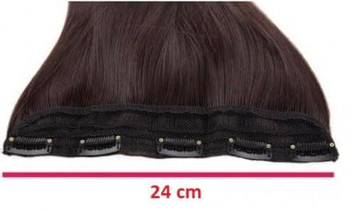 Vipbejba Sintetični clip-on lasni podaljški na 1 zaveso, izredno skodrani, črni F1