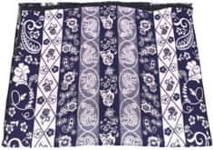Arteddy Modení dámská vzorovaná šála - tmavě modrá
