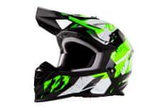 MAXX MX 633 cross helma černozelená reflex Velikost: M