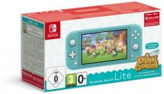 Nintendo Switch Lite, tyrkysová + Animal Crossing: New Horizons (NSH130)