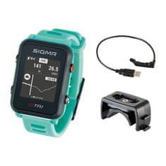 Sigma iD.TRI Basic multisportovní hodinky - neon mint