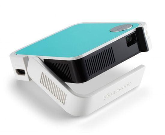 Viewsonic M1 mini Plus WVGA DLP prenosni projektor, Bluetooth zvočniki, Wi-Fi