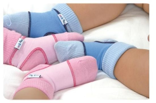 sock ons Nogavice Baby Blue - Velikost 6-12m