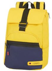 """American Tourister City Aim Laptop Backpack 14.1"""" Blue/Yellow"""