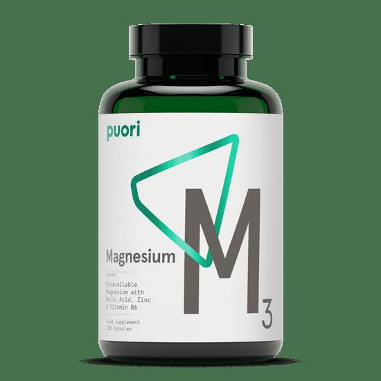 Puori M3 - komplex horčíka, zinku a vitamínu B6 – vegan