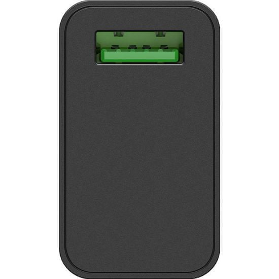 Goobay USB polnilec, QC 3.0, 18 W, črn