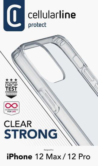 CellularLine Clear Duo ovitek za iPhone 12/12 Pro, transparentni