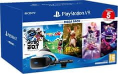 SONY PlayStation VR v2 + Kamera v2 + PS5 adaptér + 5 hier (PS719809296)