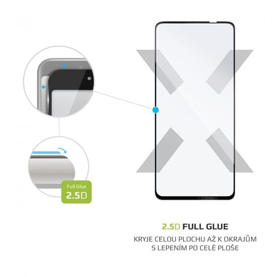 FIXED Ochranné tvrdené sklo Full-Cover pro Huawei P Smart 2021, lepenie cez celý displej FIXGFA-598-BK, čierne