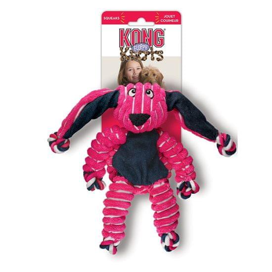 KONG Floppy Knots pasja igrača, S/M, zajec