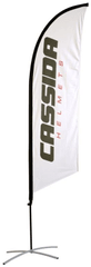 Cassida Vlajka CASSIDA bílá - vč. stojanu, zátěže a obalu, výška 2,5 m XX VLAJKA 02