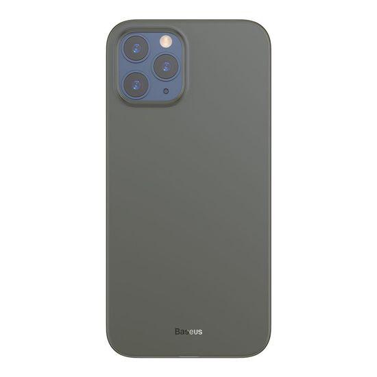BASEUS Wing Ultra Thin plastika ovitek za iPhone 12 Pro Max, črna